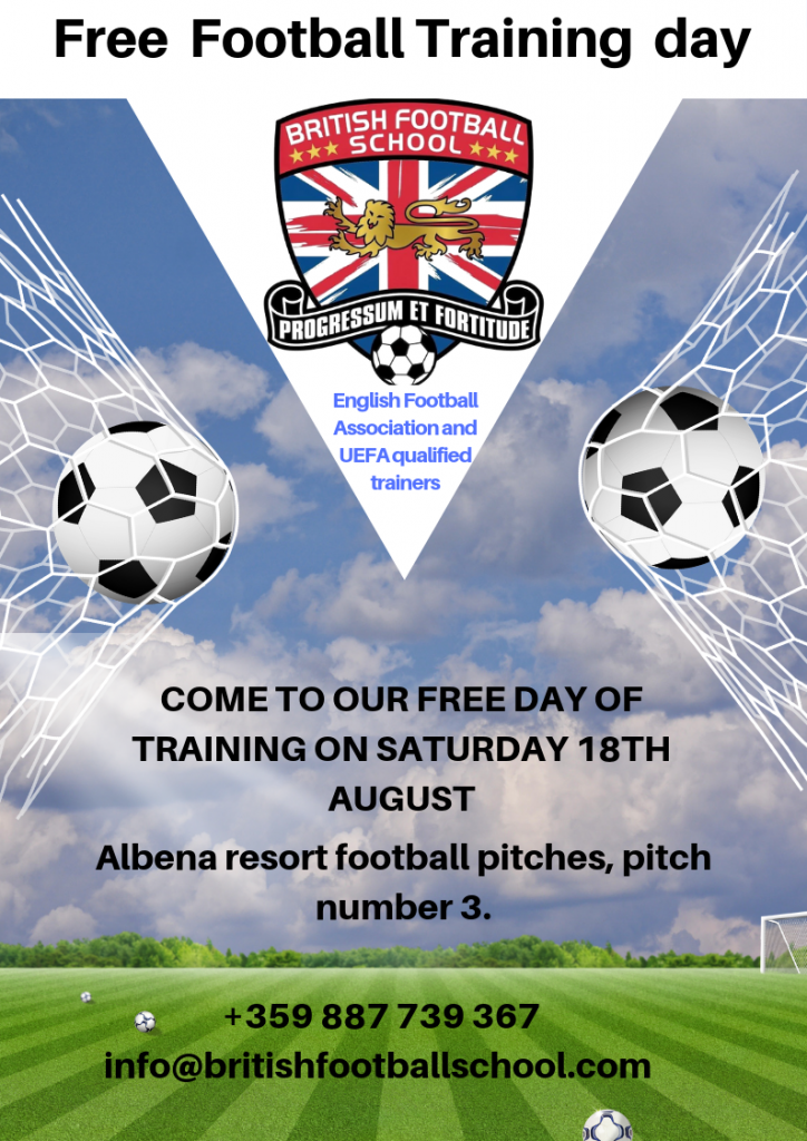 COME TO OUR FREE DAY OF TRAINING ON SATURDAY 18TH AUGUST